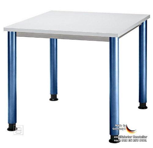 B Ro Schreibtisch B Rotisch Lichtgrau Blau 80cm Hs
