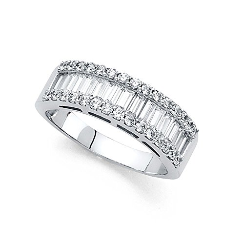 14k Yellow OR White Gold CZ Wi