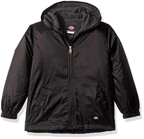 - Dickies Kids Big Kids Fleece Lined Hooded Jacket, Black, Medium