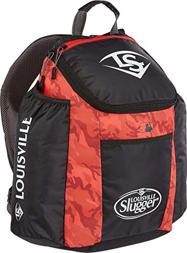 Louisville Slugger Kid's Boys Genesis Baseball Batting Bag Backpack (Scarlet)