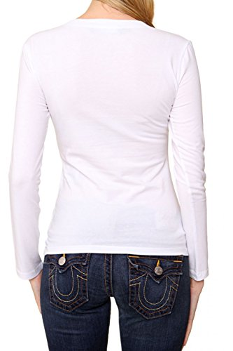 Love Moschino Longsleeve STRASS LOGO, Color: White, Size: 40