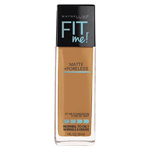 Maybelline Fit Me Matte + Poreless Liquid Foundation Makeup, Natural Tan, 1 fl. oz.
