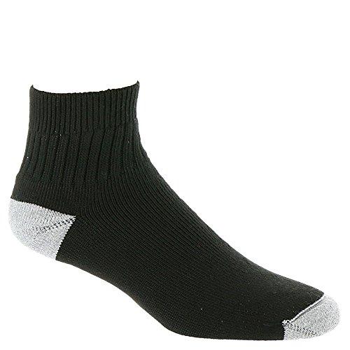 Wigwam Unisex Diabetic Sport Quarter Black Socks XL (Men's Shoe (Wigwam Dri Release Low Socks)