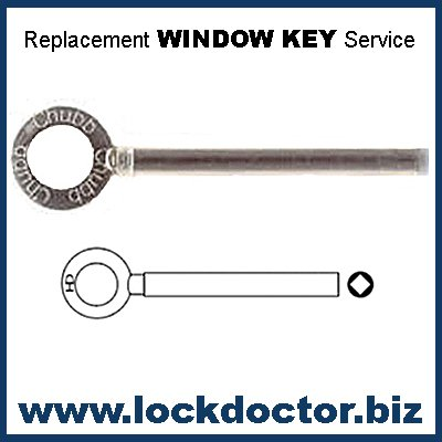 Pair of WL009 Chubb Square-Profile 8013K Window Keys supplied by Lock Doctor Services Ltd