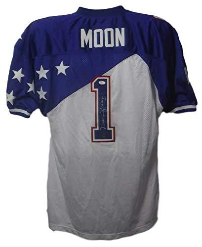 Houston Ness Oilers (Warren Moon Autographed Signed Houston Oilers 1995 Pro Bowl Mitchell & Ness Size 54 Jersey - JSA Certified)