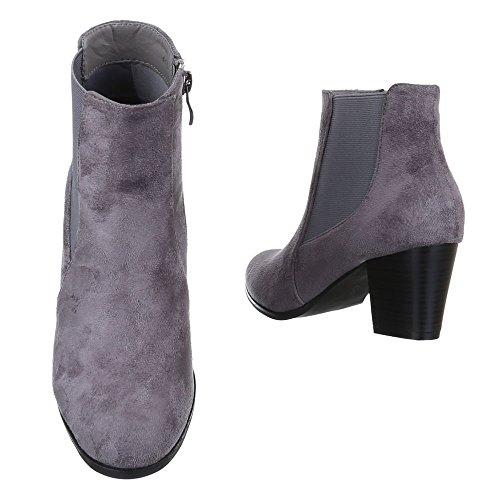 plisadas gris Ital Design Mujer Botas E7nxxUqH