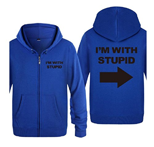 Cardigan with Coat Simple Tops Fashion Letters aicessess I'm Stupid Mens Full 14 Zip 8IwxIApOq