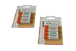 vhbw 8 x AA, Mignon, HR6, LR6 batería 2000mAh para Panasonic Lumix DMC-LS80, DMC-LS85, DMC-LS86, DMC-LZ1, DMC-LZ2, DMC-LZ3, DMC-LZ4