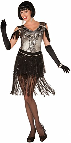 Forum Women's Enchanting Flapper Costume, Multi, One Size - Speakeasy Flapper Costume