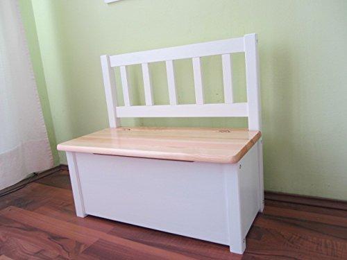 Best of Jam® Kindersitzbank mit Stauraum und Hydraulikfeder Massivholz Natur-Weiss keine