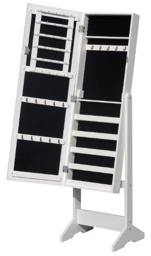 Schmuckschrank Spiegelschrank in weiss DS909S