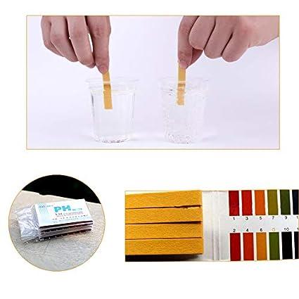 Aprettysunny papel indicador de pH ácido y álcali prueba de la tira de prueba