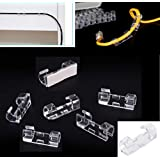 20pcs/lot Wire Fixing Clamp Clip Desktop Wire Clear Up clamp Holder Clamps Cable Clip Route Device Cord Clip Holder Organiser
