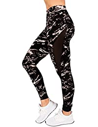Plus Size Active Womens Yoga Marble Printed Mesh Legging by RAG