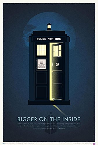 Doctor Who 50th Anniversary Art Print Poster with Hanger