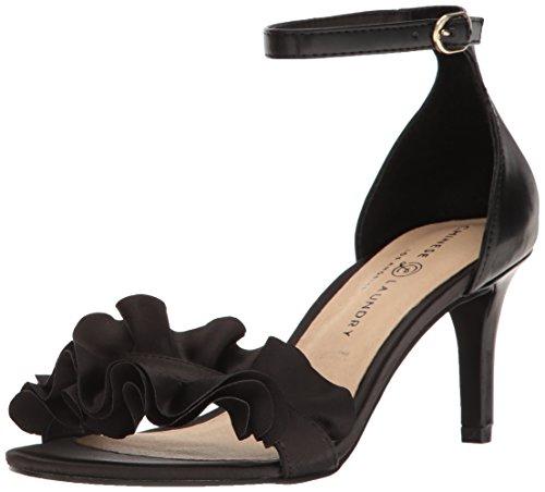 Chinese Laundry Women's Remmy Dress Sandal, Black Satin, 8 M US