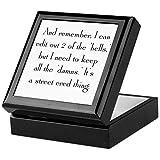CafePress Street Cred Thing Keepsake Box, Finished Hardwood Jewelry Box, Velvet Lined Memento Box