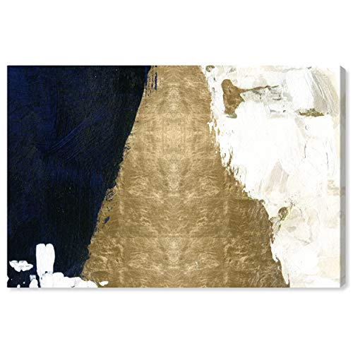 "The Oliver Gal Artist The Abstract Wall Decor Collection Night & Day Contemporary Premium Canvas Art Print, 30"" x 20"", Gold"