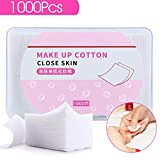 1000Pcs Lint Free Nail Wipes Nail Art Gel Polish Remover Cotton Pads - Soft Absorbent Manicure Makeup Cosmetic Cotton Pads
