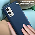 TRUEUPGRADE Liquid Silicone Back Case Cover with Inner Microfiber Cloth Designed Compatible for OnePlus 9/Oneplus 9 Back…