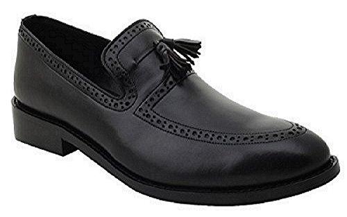 Liberty Men's Leather Handmade Tassel Loafer Slip On Dress Shoes (7, (Mens Footwear Leather)