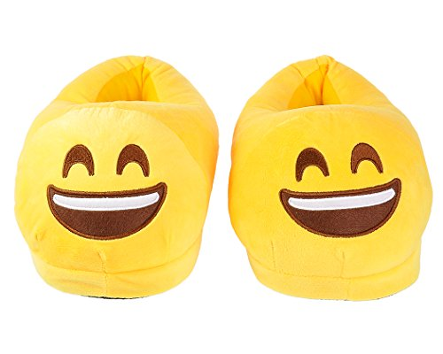 Plush Slippers Adult Face Indoor Cute Unisex Emoticon EMOJ DSstyles Winter Smile for nU8qBYH8R