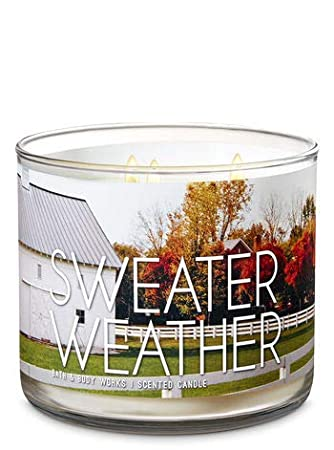 Amazoncom Bath And Body Works Sweater Weather 3 Wick Scented