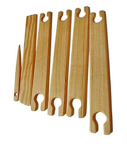 1.0'' Wide 4 Pack 12 Inch Weaving Stick Shuttles Free Shed Stick & Needle