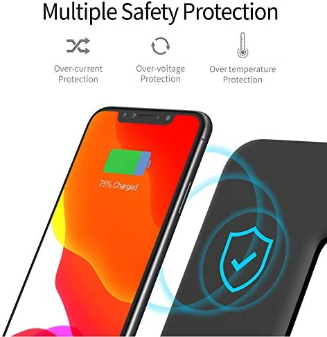 Any Warphone 3 in 1 Wireless Charging Stand for Latest Airpods iPhone and iWatch, Compatible for iPhone 11 Pro Max/X/XS Max/8 Apple Watch Charger 5/4/ 3/2 /1 Airpods 2/3 41MeHfl2iYL