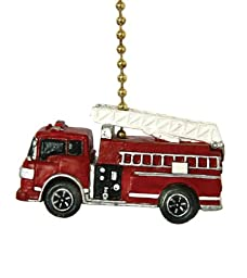 Fire Truck Fire Engine Firefighter Ceiling Fan Pull