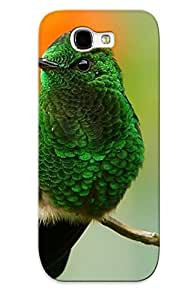 High Quality Tpu Case/ Green Hummingbird VshOuda2885qrCpb Case Cover For Galaxy Note 2 For New Year's Day's Gift