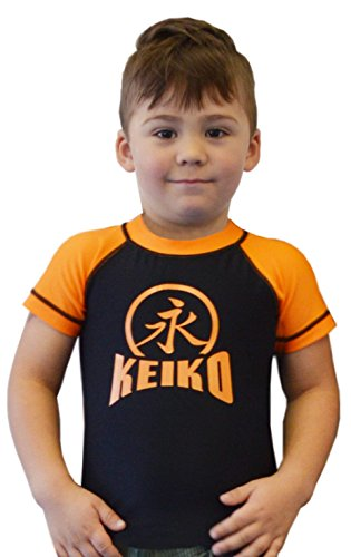 KEIKO SPORTS NEW Kids Comp Team Rashguard - Orange - 10