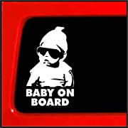 So Cool Stuff Hangover Baby On Board decal laptop tablet skateboard car windows (5  White)