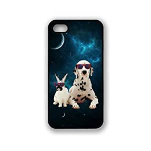 Hipster Space Friends Rabbit & Dog iPhone 5 & 5S Case - Fits iPhone 5 & 5S
