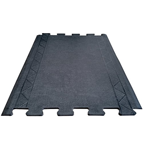 Cactus Mat 2500-RE36 Rubber Comfort Zone Interlocking Anti-Fatigue Mats, End Section, 36