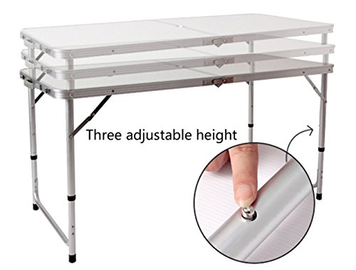 4ft 120 X 60 Cm Folding Table Adjustable Height With