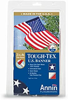 product image for Annin Flagmakers 605003 Polyester Tough Tex Us Banner, 2.5' X 4'