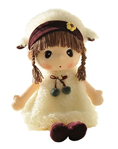 HWD HWD Kawaii 17 inch Stuffed Plush Girl Toy Doll.Good Gift For kids baby lover.(White) price tips cheap