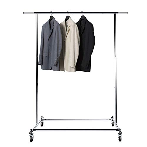 BigRoof Clothing Rack, 6.3FT Heavy Duty Clothes Rack Free St