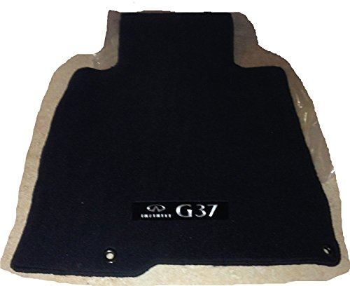 (2009 TO 2013 Infiniti G37 CONVERTIBLE Factory Carpeted Floor Mats - Black)