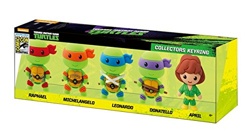 Nickelodeon 2015 SDCC Teenage Mutant Ninja Turtles 3D Foam Key Ring Set (5 Piece)