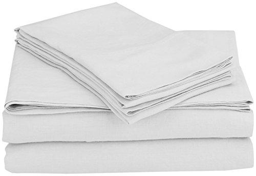 Coyuchi Relaxed Linen Sheet Set, Queen - Alpine White