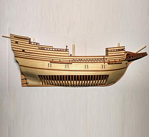 HMS Victory Model - HMS Victory Model Ship Kids Toy Model 3D Wood Boats Laser Cut 1/96, Half Hull Model Ship Kit