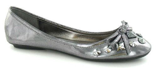 Silver Flat Joyas Spot Vamp Bailarina Bow On p5qzgzWnY