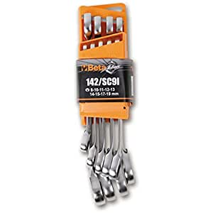 Beta Set 9 chiavi combinate cricchetto professionali officina meccanico 142/SC9I