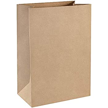 Amazon.com: Bolsas de papel grandes para comestibles, 4.7 x ...