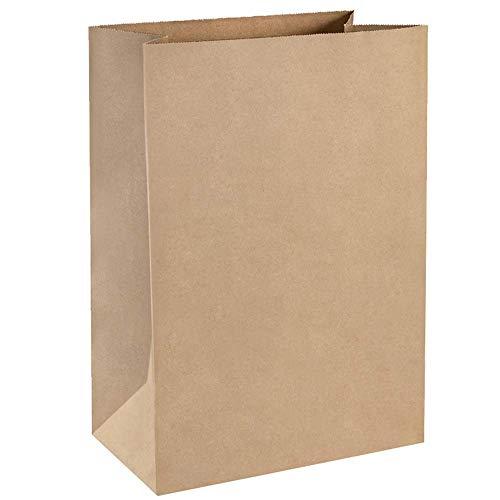 BagDream Grocery Bags 12x7x17 Inches 100Pcs Heavy Duty Kraft Brown Paper Grocery Bags Durable Kraft Paper Bags, Paper Barrel Sack Bags, 100% Recycled Kraft Paper Gift Bags Bulk