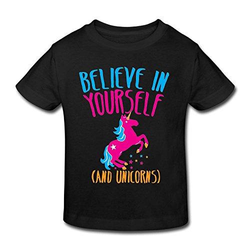 (KissKid Believe in Yourself Infants Short Sleeve Tshirt 2 Toddler)