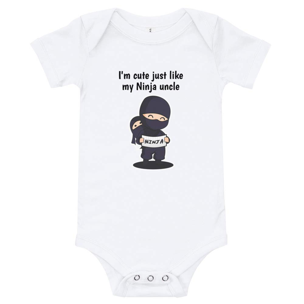 Funny Ninja Baby Romper Toddler Infant Bodysuits Uncle Saying