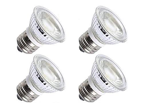 CTKcom 5W PAR16/HR16 LED Spotlight Bulb(4 Pack)- E26/E27 COB Flood Light Bulb 36 Degree 450LM 6000K Daylight White 50W halogen bulb Equivalent LED Bulbs 110V~130V